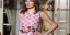 2015 Gönül Kolat Pembe Güllü Brokar Elbise Modeli