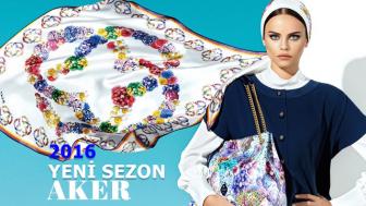 Aker İpek Eşarp Modelleri 2016