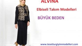 Büyük Beden Alvina Elbiseli Takım Modelleri