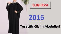 Sunheva Tesettür Giyim Modelleri – Sunheva Ferace Pardesü Kap Tunik