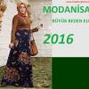 Modanisa Büyük Beden Elbise Modelleri 2016