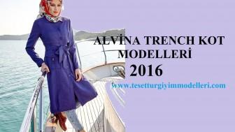 Alvina Trençkot Modelleri 2016