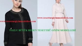 Tozlu Büyük Beden Tesettür Giyim Modelleri