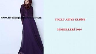 Tozlu Abiye Elbise Modelleri
