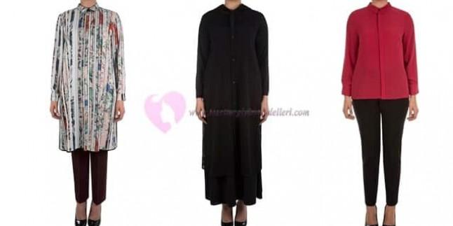 Aker Büyük Beden Tesettür Giyim Modelleri