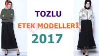 Tozlu Tesettür Etek Modelleri 2017