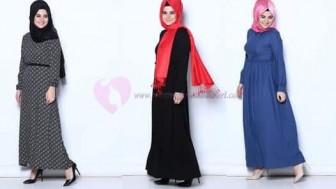 Tozlu Tesettür Elbise Modelleri 2017