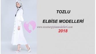 Tozlu Tesettür Elbise Modelleri 2018