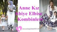 Anne Kız Abiye Elbise Modelleri