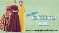 Tesettür Mezuniyet Elbise Modelleri 2018