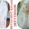 Tesettürlü Gelinlere Beyaz Hint Kınası Modelleri