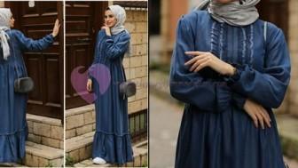 Tesettür Kot Salopet Elbise 2019