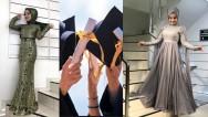 Tesettür Mezuniyet Elbise Modelleri 2019