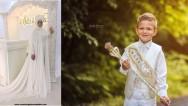 Tesettürlü Sünnet Annesi Abiyelerinde Beyaz Modası