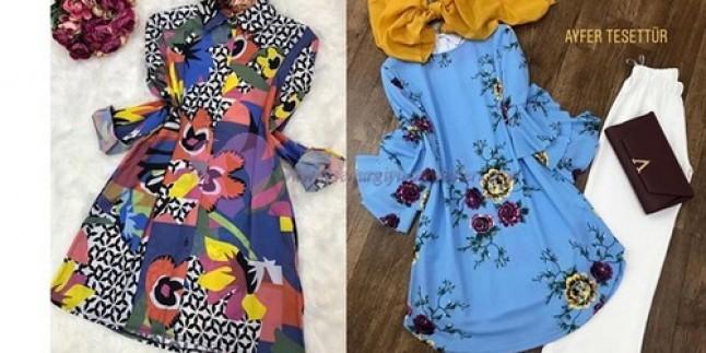 2019 Tesettür Tunik Modelleri