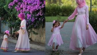 Tesettür Anne Kız Kombin Modelleri 2019