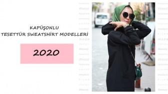 Kapüşonlu Tesettür Sweatshirt Modelleri 2020