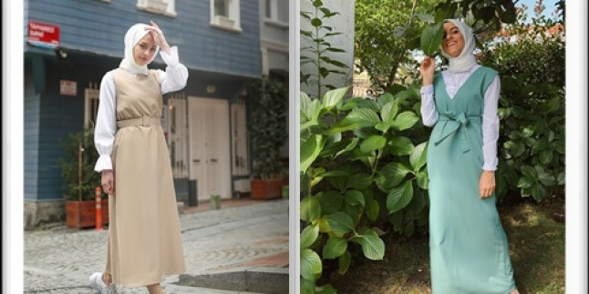 Tesettür Jile Elbise Modelleri 2020