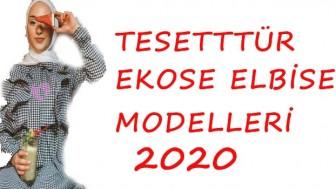 Tesettür Ekose Elbise Modelleri 2020