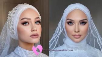 Tesettür Gelin Makyajı Modelleri 2021