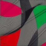 Aker İç İçe Geçmiş Çizgi Desenli İpek Eşarp Modeli