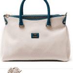 Pierre Cardin Beyaz SApı Mavi Deri Çanta Modeli
