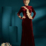 Setrms Çiçekli Bordo Modeli