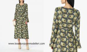 Aker Desenli Elbise Modeli