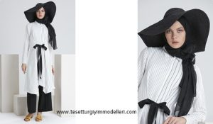 Tuğba Elbise Modelleri Çizgili