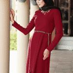 Alvina Kırmızı Tunik Modeli