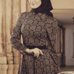 Butik Simge Elbise Lacivert