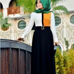 Pınar Şems Dama Elbise Hardal