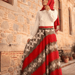 Pınar Şems - Dantel Desenli Şifon Etek