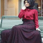 Pınar Şems - Dantelli Siyah Verev Etek