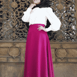 Pınar Şems Fuşya Verev Etek