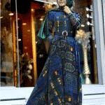 Pınar Şems Otantik Desenli Elbise