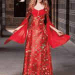 Peri Klasik Bindallı Kırmızı
