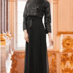 Puane Abiye Elbise Bolerolu Siyah