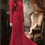 Puane Abiye Elbise Kırmızı