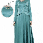 Puane Aqua Abiye Elbise