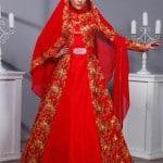 Telkırma Kaftan Bindallı Elbise Modeli