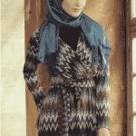 V Yaka Kesim Elbise Koyu Mavi