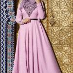 Muslima Wear Lale Desenli Elbise Modeli