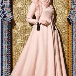 Muslima Wear Nakışlı Elbise Modeli