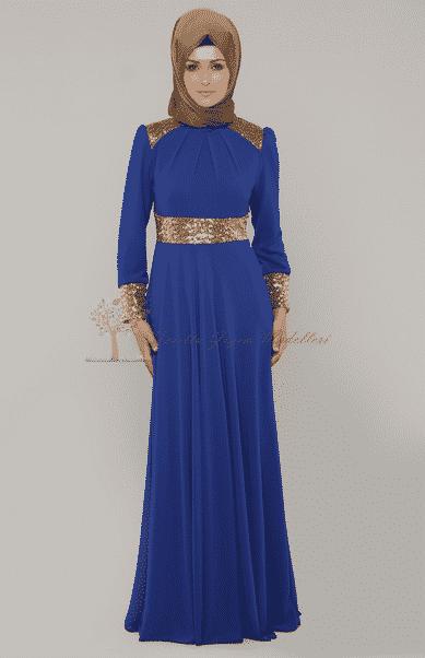 Diesre Altın İşlemeli Elbise