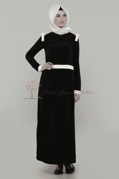 Diesre Omuz Güpürlü Elbise