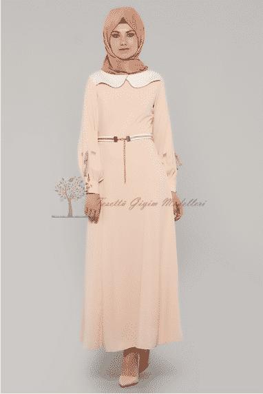 Diesre Pudra Renk Elbise