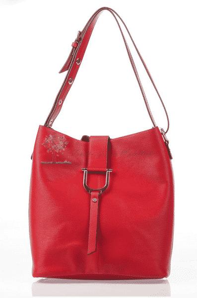 Jacquline Kırmızı Deri Çanta