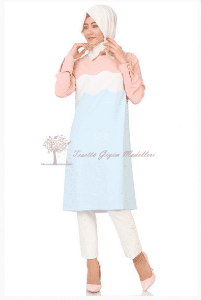 Kayra Yeni Sezon Üç Renkli Tunik Modeli