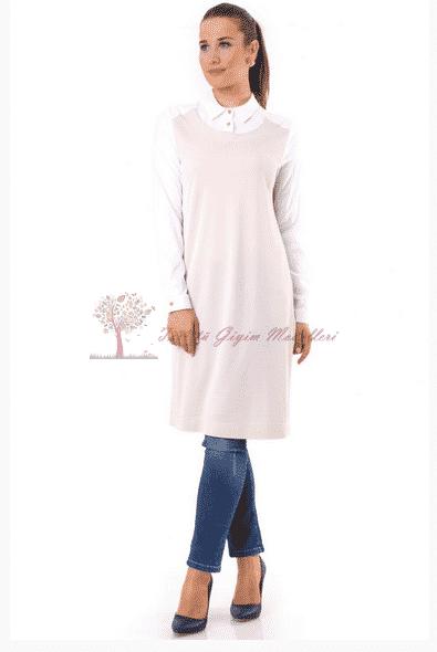 Kayra Yeni Sezon İki Renkli Tunik Modeli